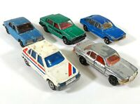5 x Majorette Car Mercedes-Benz Simca Volvo Blue Green Gray Vintage Diecast D223