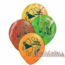 Winnie The Pooh Happy Birthday Giving Gifts Latex Balloons (6) ~ Party Supplies