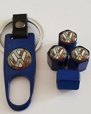 VW VOLKSWAGEN Valve DUST CAPS 3 colours boxed Keychain Spanner  50% Off T5 T6 T4