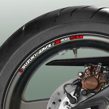 8 x SUZUKI DRZ 400SM Wheel Rim Decals Stickers - dr-z dr z 400 sm drz400sm