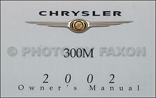 2002 Chrysler 300M Owners Manual NEW Original 300 OEM Owner Guide Book