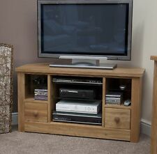 Vermont solid oak furniture corner television cabinet stand unit