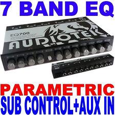 AUDIOTEK 7 BAND PARAMETRIC EQUALIZER EQ CAR SUB CONTROL AUX INPUT INDASH EQ700