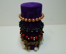 Bracelet jewellery display roll for elasticated bracelets (Spring Purple)