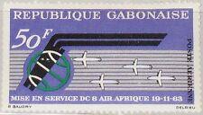 GABON GABUN 1963 190 C18 Air Afrique 1st Ann Flugdienst Airline Airplanes MNH