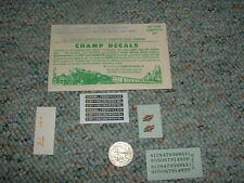 Champ decals HO EH-220 Chicago North Western hood diesel gr nos wht red bl  E122