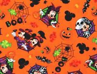 FAT QUARTER  DISNEY MICKEY & MINNIE FEELIN' SPOOKY  COTTON FABRIC HALLOWEEN  BOO