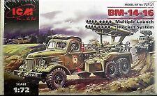 ICM 1/72 Soviet Multiple Rocket system BM-14-16   72581