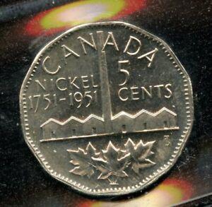 1951 Canada Commemorative Five Cents - ICCS MS-64