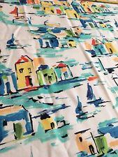"Covington Mykonos Greek Greece Regatta Cotton Duck Fabric 53.5"" X 53.5"""