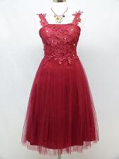 Cherlone Rojo Baile de Graduación Cóctel Fiesta Baile Noche Vestido Formal De Dama De Honor Boda 12
