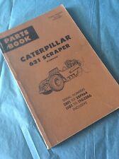 CAT CATERPILLAR 631 Scraper PARTS BOOK MANUAL S/N 28F1-964 11G1-3286 Guide