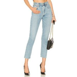 NWT AGOLDE Riley High Rise Straight Crop in Renewal (Size 24)