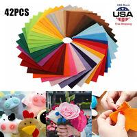 "42pcs 6"" Colorful DIY Soft Nonwoven Felt Fabric Sheets Craft Patchwork Handwork"