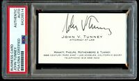 John V. Tunney signed autograph auto Attorney At Law Business Card PSA Slabbed