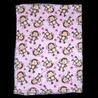 Baby Gear Pink Monkey Blanket Small Flowers Security Lovey 30x40'