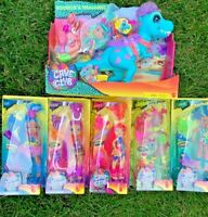 Cave Club Dolls Complete Set of 6 W/ Dinosaur ***Rockelle** NEW**