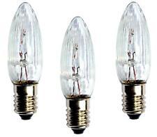 3x Topkerze 8 V 3W  E10 Spitzkerze Riffelkerze 30er Lichterkette für außen - NEU