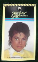 MICHAEL JACKSON PHOTO VINTAGE 1984 SMALL 3 x 5 INCH SPIRAL MEMO PAD NOTEBOOK