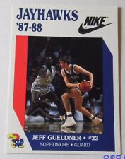 VTG RARE NIKE 1987 1988 JEFF GUELDNER KANSAS JAYHAWKS KU NCAA BASKETBALL CARD RC