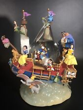 Disney Magical Gathering Pirate Ship Snowglobe. (Belle,Beast,Dumbo,Genie)