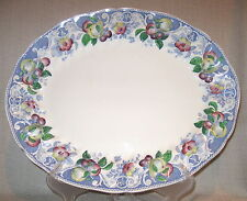 "Royal Doulton Pomeroy Blue Multicolor 17"" Oval Serving Platter"