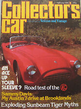 Collector's Car magazine February 1981 featuring AC Ace-Bristol road test