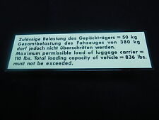 ROOF RACK DECAL VINTAGE VW SPLIT OVAL BUG GHIA