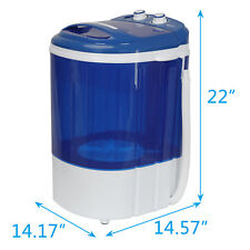 9lbs Mini Washing Machine with Washer&Spinner,Gravit y Drain Pump Hose Save Time