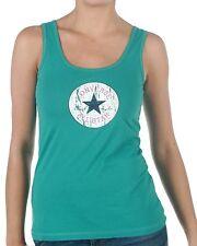 CONVERSE VINTAGE PATCH Damenshirt Tanktop T-Shirt Shirt Tops, gruen, Gr. L