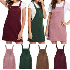 9194ee7f79 Women Girls Corduroy Suspender Skirt Sleeveless Casual Dress Slim Cloth  Dress
