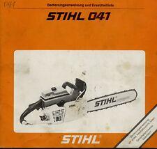 Bedienungsanleitung Stihl 041 AV und einige andere Modelle - siehe Beschreibung