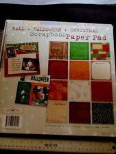 Fall*Halloween*Christmas* 12x12 Paper Pad by Karen Foster ghosts,pumpkins,stars