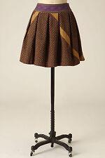Anthropologie Skirt Giza High Waist Pleated Embroidered Mini, Pankaj & Nidhi, 10