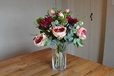 Artificial Flower Arrangement - Peony, chrysanthemum and eucalyptus