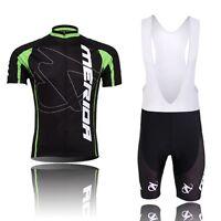 Merida Team Men's MTB Bike Bicycle Clothing Set Cycling Jersey & (Bib) Short Set