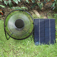 9''*10'' Mini Ventilator 5W Solar Panel Fan For Car Greenhouse Garden Air Moving