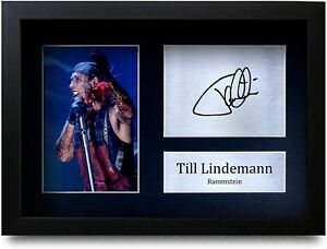 Till Lindemann Signed Pre Printed Autograph A4 Photo Gift For a Rammstein Fan