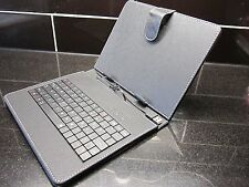 """Black PU Leather USB Keyboard Carry Case Stand for Coby Kyros 8"""" Tablet PC"""