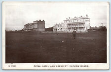 Hampshire HAYLING ISLAND Royal Hotel and Crescent 1915 RP Postcard Z2