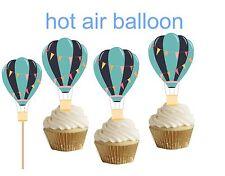 Blue Hot Air Balloon cakepop/cupcake topper 24pcs