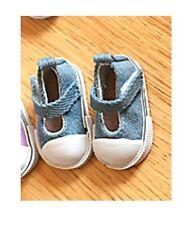 Puppen Schuhe Turnschuhe Sneakers Canvas Leinenschuhe jeansblau 5 cm lang, 162j.
