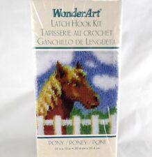 Caron Pony Horse Latch Hook Kit 12 x 12 Hanging Rug WonderArt 4714