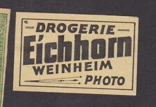 Ancienne étiquette allumettes Allemagne BN78915 Droguerie