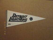 MISL Detroit Lightning Vintage Defunct Black & Silver Logo Soccer Pennant
