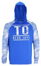Zubaz MLB Baseball Men's Toronto Blue Jays Static Stripe Hooded Shirt