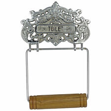 Chrome Toilet Paper Holder Wall Mount Antique Replica Vintage French Style