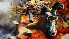 Avengers: Infinity War Rocket raccoon movie Silk Poster 24 X 14 inch