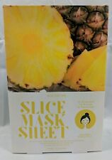 Lot Of 2 KOCOSTAR SLICE MASK SHEET- ANANAS PINEAPPLE 10 PACKETS W/12 SLICES EACH