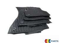 NEW GENUINE AUDI A6 2011-2016 FRONT AND REAR FLOOR BLACK RUBBER MATS PAIR LHD